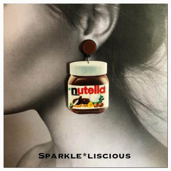 nutella bottle large earrings