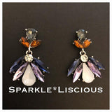 coloured jewelled earrings