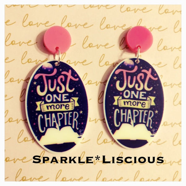 Just one more chapter earrings