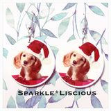 Christmas puppy earrings
