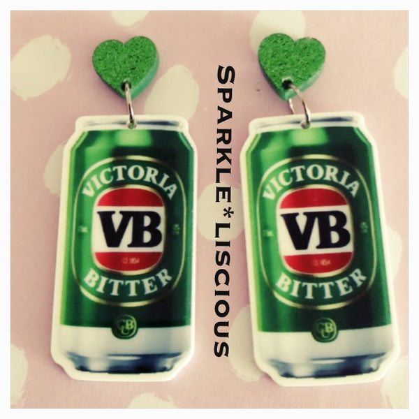 VB can earrings