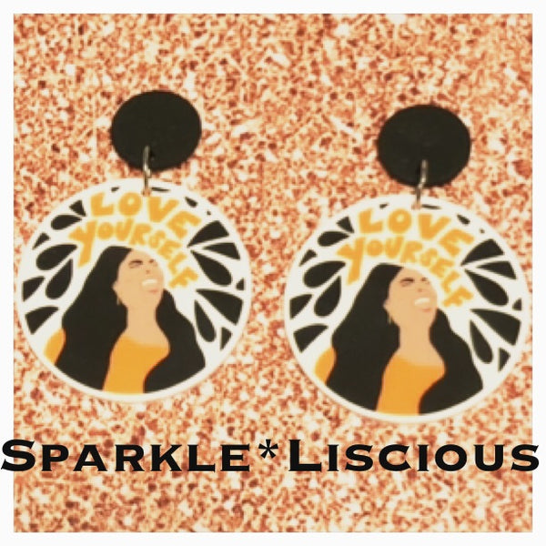 Lizzo love yourself earrings