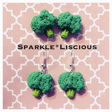 Broccoli stud or drop earrings