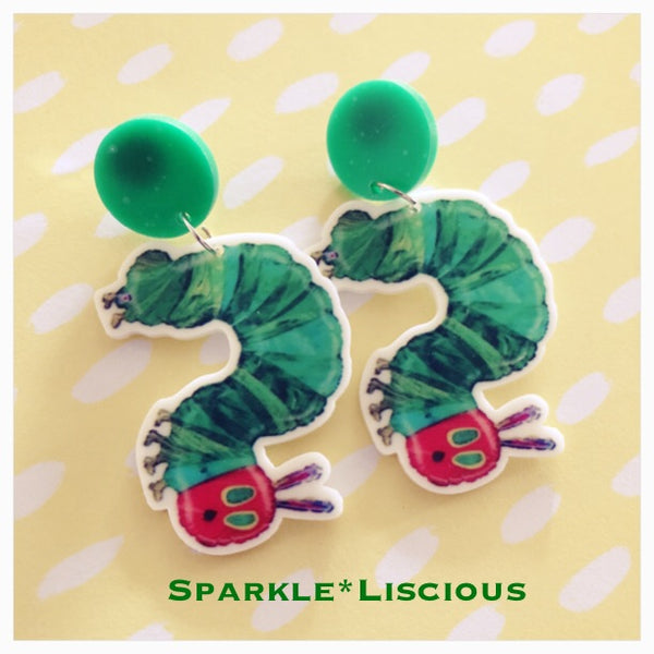 The very Hungry caterpillar earrings