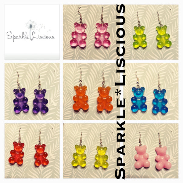 Jumbo gummi bear earrings
