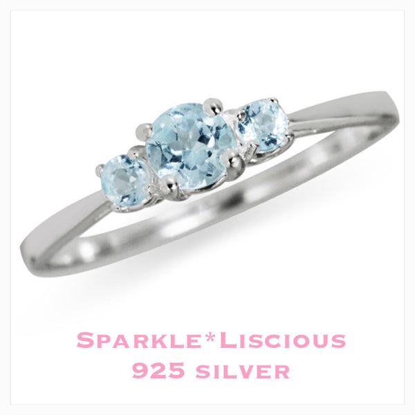 Sparkle*Liscious Sterling Silver Blue Topaz Ring