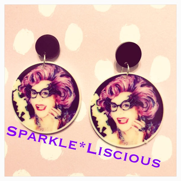 Hello possums dame Edna everage earrings