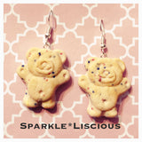 Tiny teddy earrings