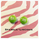 M&M stud earrings