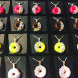 Donut necklace with sprinkles