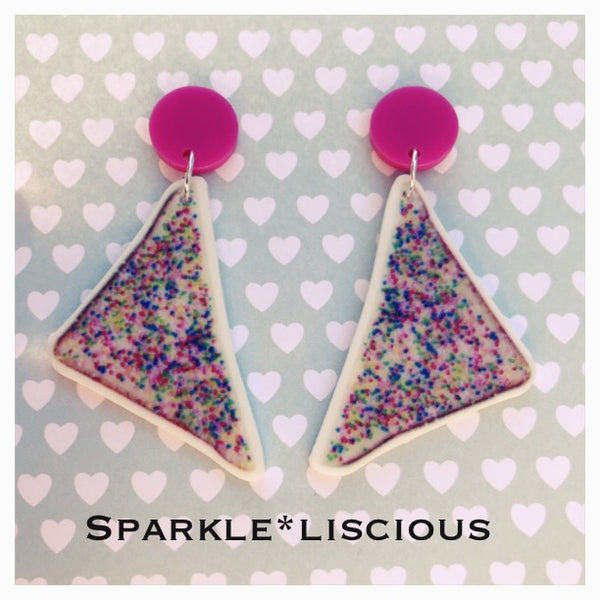Fairy bread drop acrylic earrings