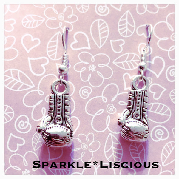 Boxing glove earrings