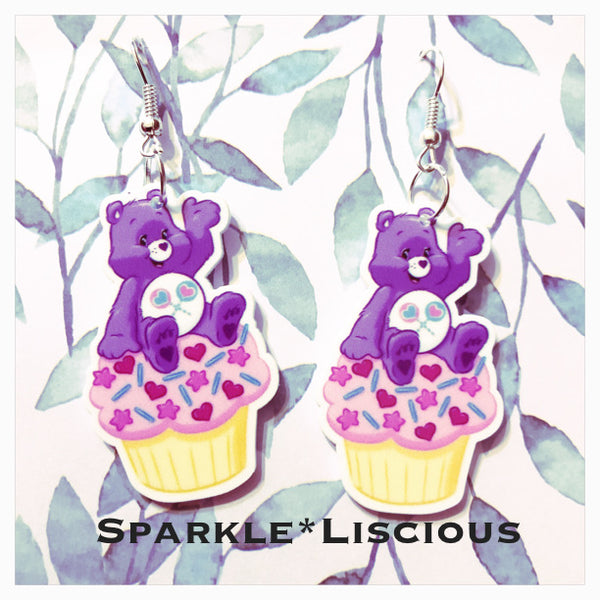Care bear cupcake earrings