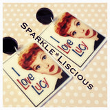 I love Lucy acrylic earrings