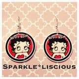 Betty boop acrylic earrings
