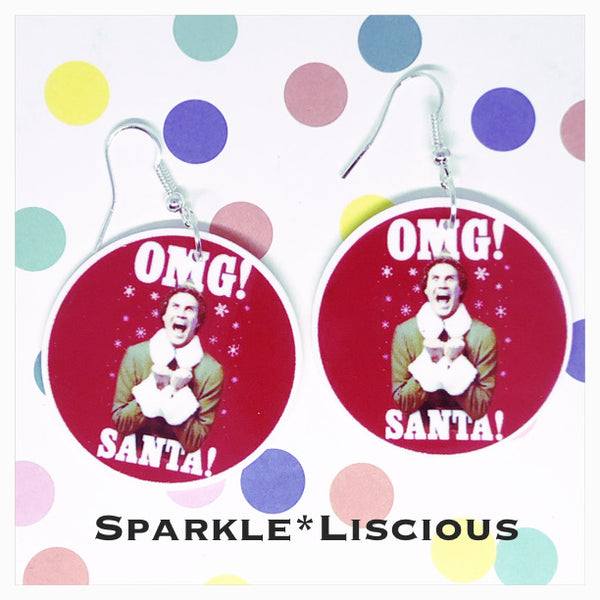 Omg Santa ! Elf Christmas earrings