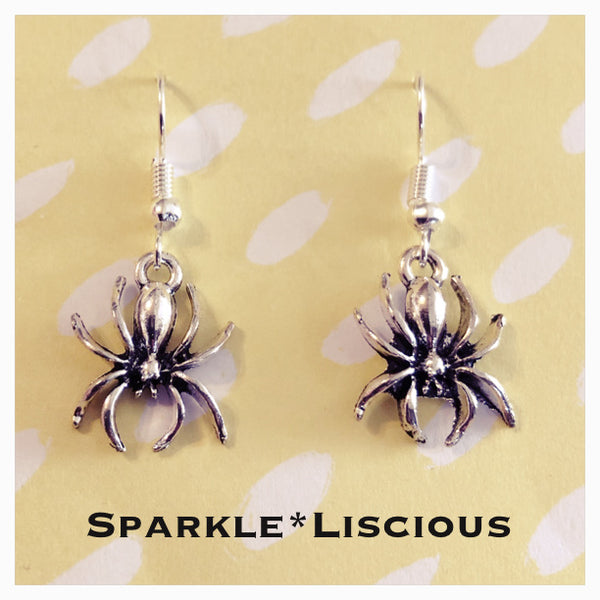 Little spider earrings