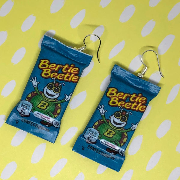 Bertie beetle earrings