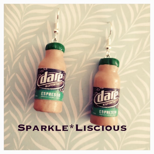 Dare iced coffee earrings
