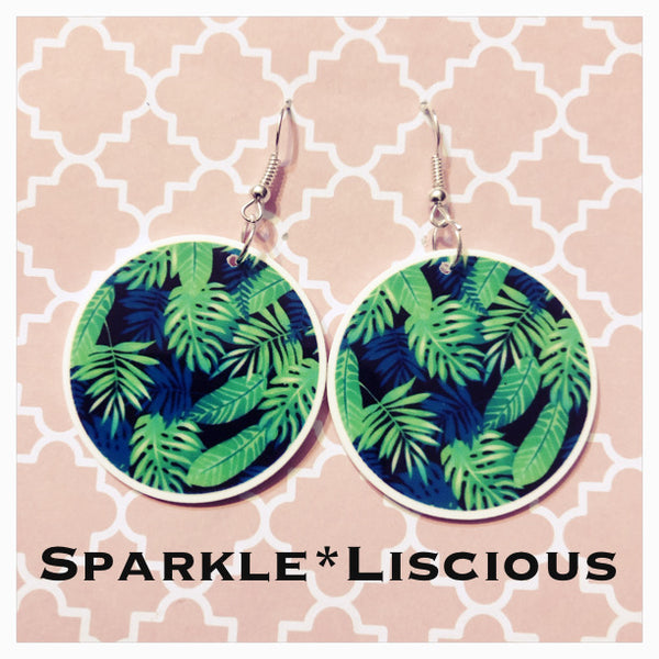 Jungle greens earrings