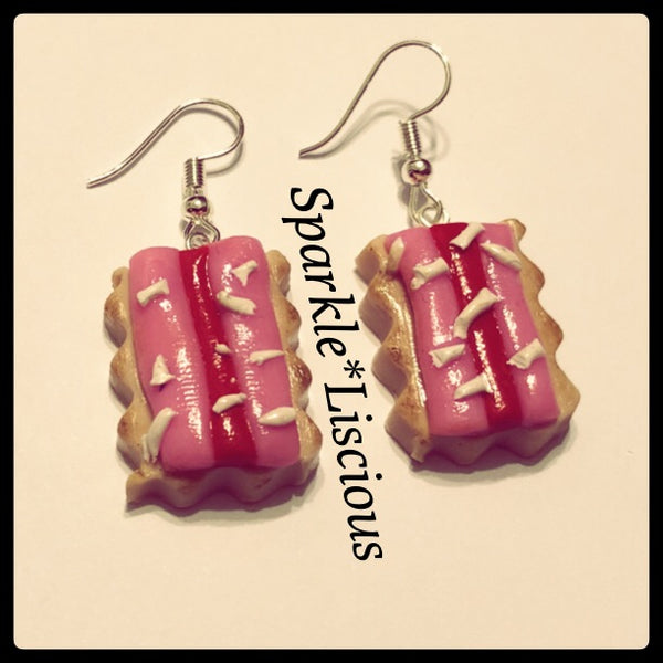 Iced Vovo dangle biscuit earrings