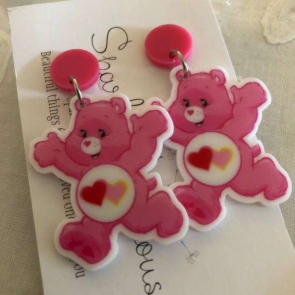 Care Bears love earrings
