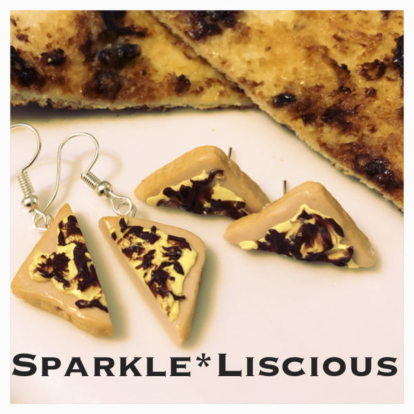 Vegemite toast earrings !!