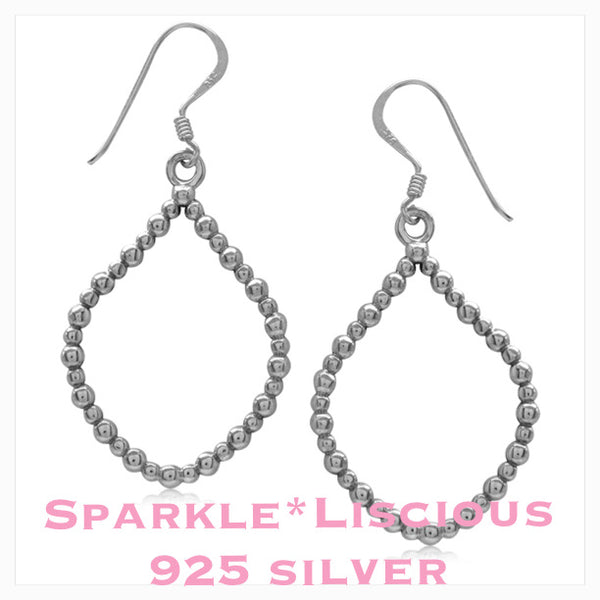 Sparkle*Liscious beaded drop Sterling Silver Earrings