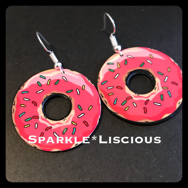 The Simpson's donut earrings