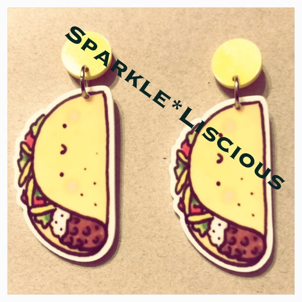 Taco earrings !!