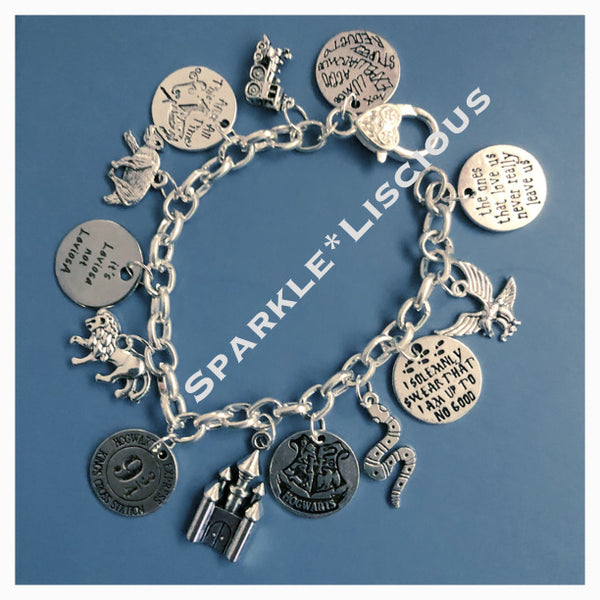 Harry Potter quote charm bracelet