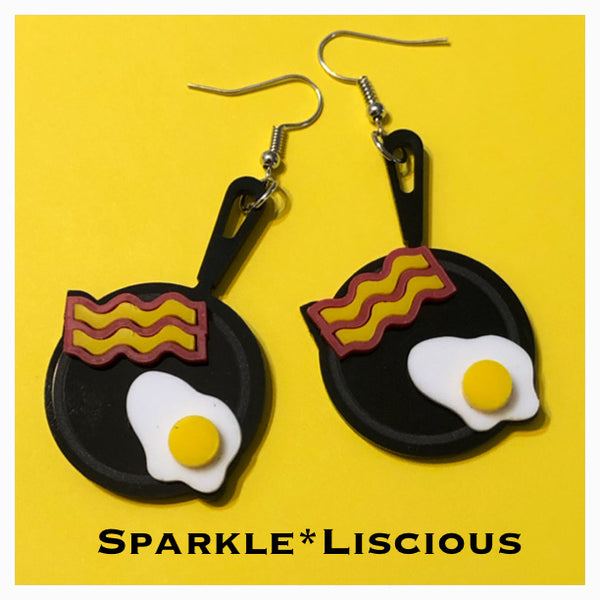 Bacon and eggs 🍳 earrings