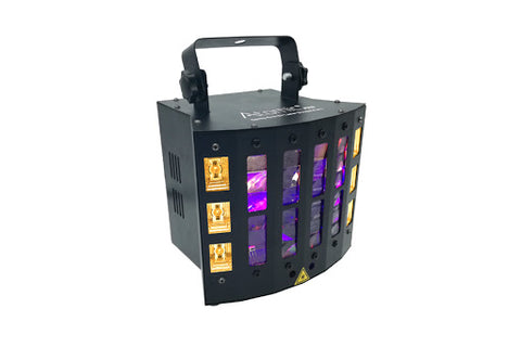 EFFETTO LUCE LED ATOMIC4DJ DERBY EVO - UV LASER STROBER - 4 IN 1 DERBY