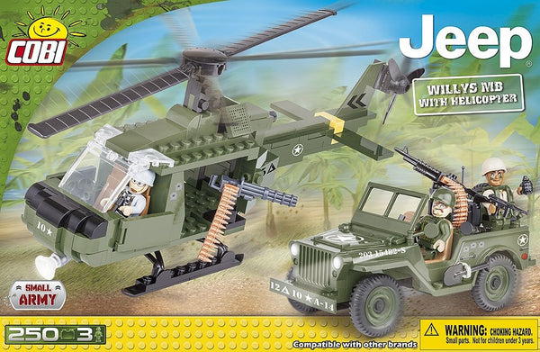 kocke cobi - JEEP WILLYS MB WITH HELICOPTER