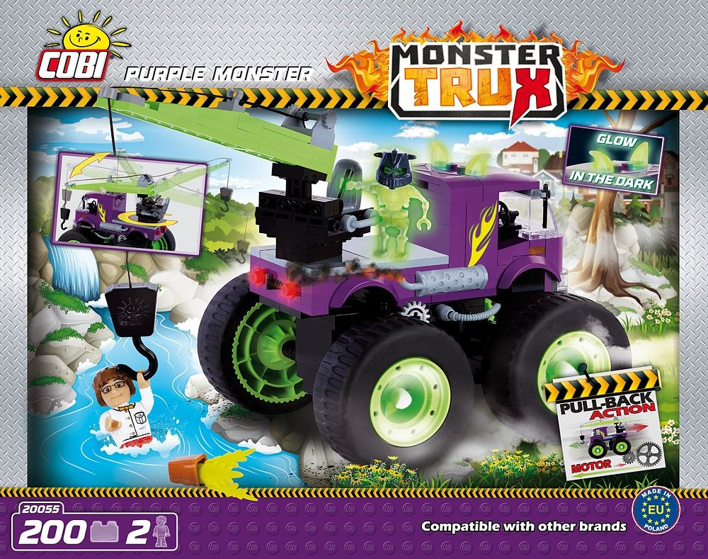 kocke cobi - Purple Monster