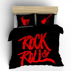POSTELJINA ROCK & ROLL BLACK