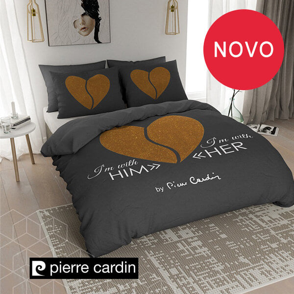 "POSTELJINA PIERRE CARDIN ""HEART BLACK GOLD"""