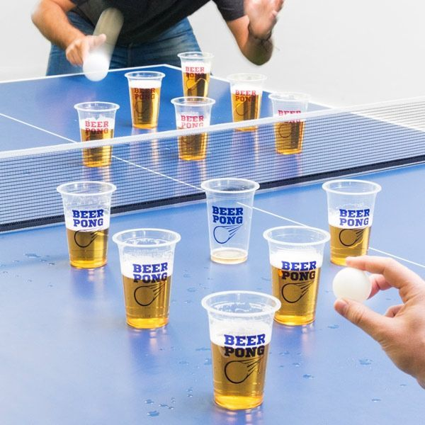 Beer pong set s lopticama