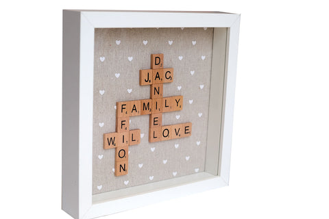Family scrabble frame