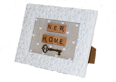 New home letter frame
