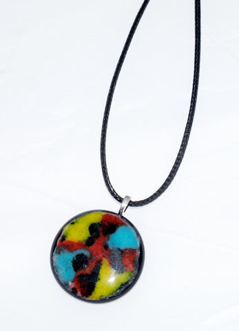 Colourful glass pendant