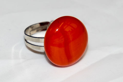 Orange recycled glass ring