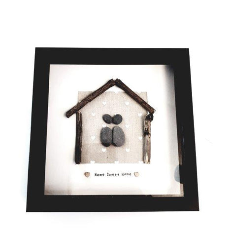 """Home Sweet Home"" Pebble Art."