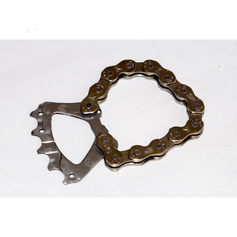 Bicycle chain bottle opener