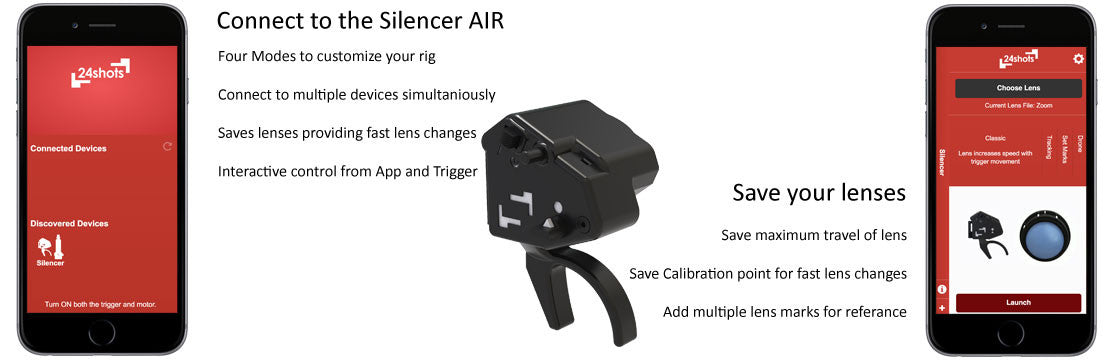 Silencer Air Follow Focus 24shots app