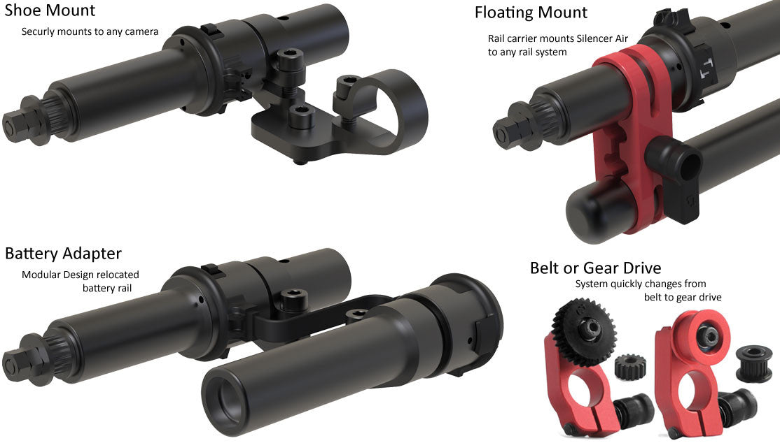 Silencer Air Follow Focus Mounting options for the system