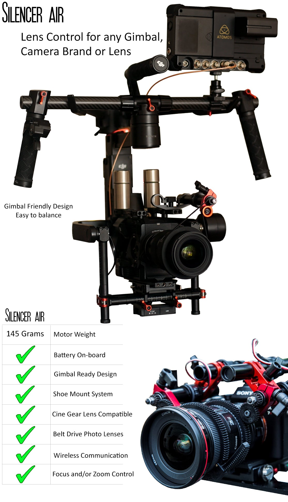 Silencer Air with Gimbal Rigs