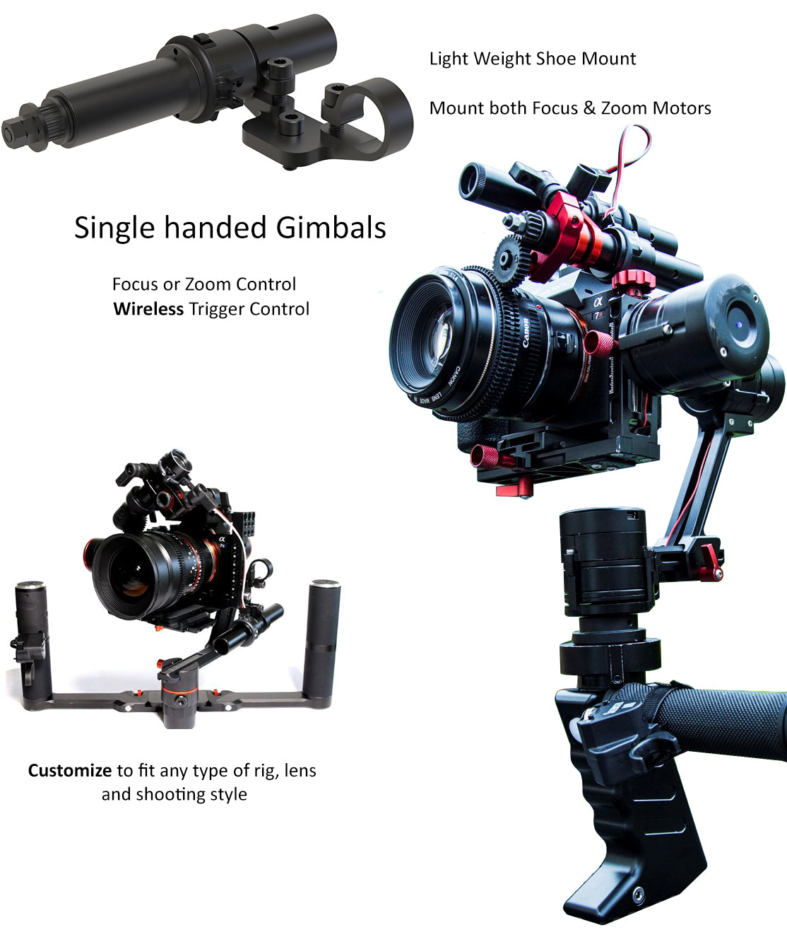 Single Handed Gimbals, Focus or Zoom Controller
