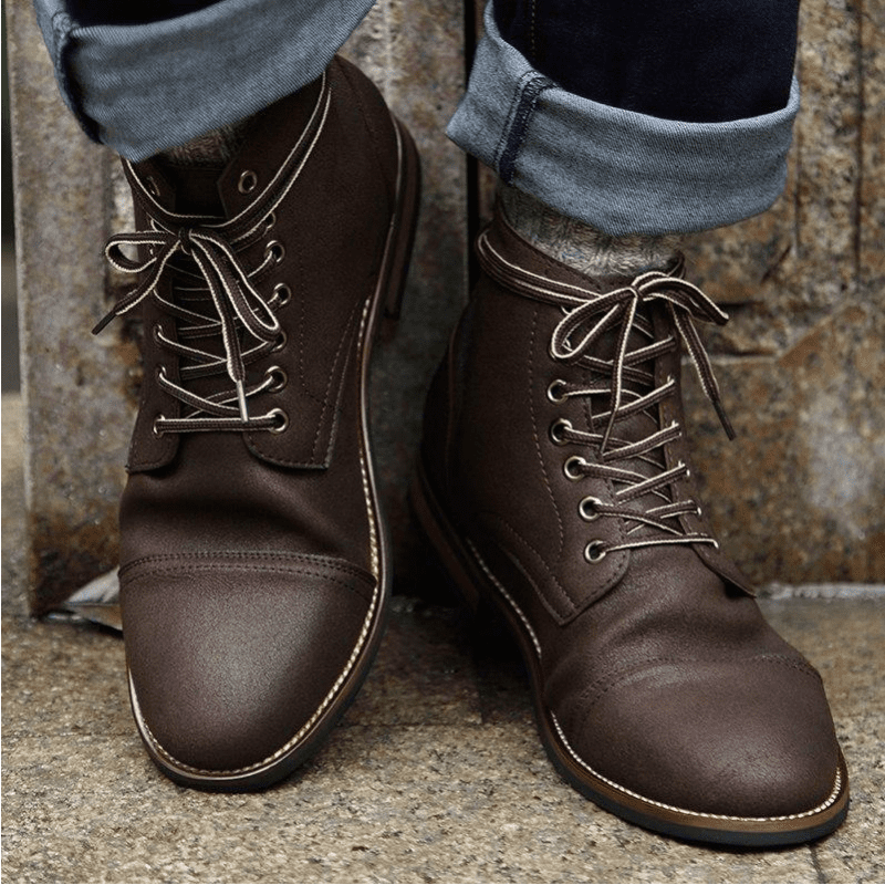Tredfashions High Quality Men's Leather Boots 2018!
