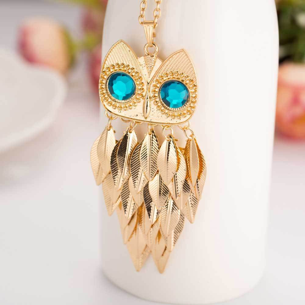 Tredfasshions Unique Owl Gold Necklace - Tred Fashions
